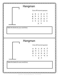 Hangman Template Printable | The Puzzle Den: Free Hangman Template