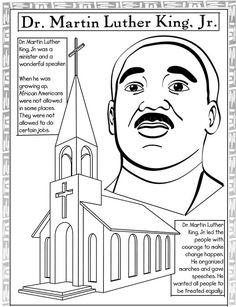 1000 images about i have a dream mlk black history on for Martin luther king jr coloring pages