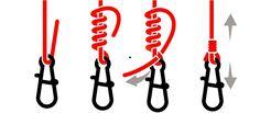 Pesca Fissare Moschettone e minnow Rope Knots, Macrame Knots, Gone Fishing, Fishing Tips, Fishing Line Knots, Dragonfly Garden Decor, Survival Knots, Knots Guide, Leather Craft Tools