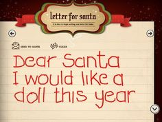 5 Apps that will get your kid's letter to Santa!