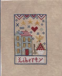 CHESSIE and ME: Liberty Inn -- next in series of kits with linen & threads, I think