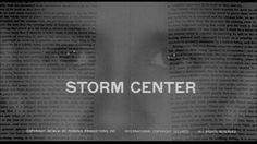 Saul Bass Storm center 1956 title sequence Storm Center, Saul Bass, Title Sequence, Title Card, Movie Titles, Bette Davis, Classic Hollywood, Cards, Movies