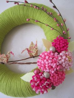 Love these colors - Spring diy Wreath