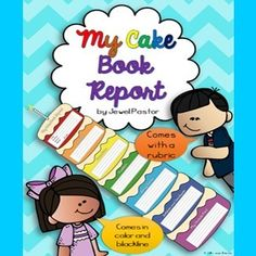 """My Cake Book Report"" Launch - Do you want a creative way to do book reports in your English Language Arts class?  Then enter this giveaway to win a copy of my latest book report resource ""My Cake Book Report.""  Good luck!.  A GIVEAWAY promotion for My Cake Book Report (Book Report for Stories or Narratives) from Jewel Pastor on TeachersNotebook.com (ends on 1-24-2015)"