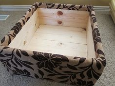 DIY: build your own (storage) ottoman FROM SCRATCH.  *since I can't find any I like. !