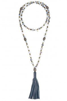 Jojo Leather Tassel Necklace  | Calypso St. Barth