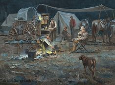 """""""Return of Shorty"""" Art of John & Suzie Seerey-Lester Cowboy Images, Cowboy Pictures, Cowgirl And Horse, Cowboy Art, American Indian Art, Native American Art, Old West Town, Into The West, Chuck Wagon"""