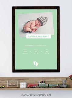 Personoitava syntymätaulu kuvalla