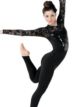 Long Sleeve Sequin Lace Unitard | Balera™