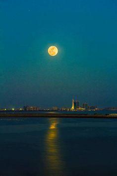 Full Moon, Sea View, Karachi.