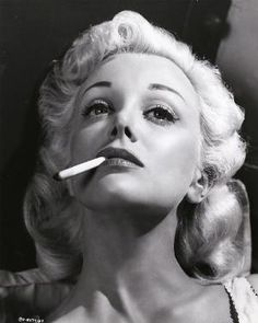 Vintage Glamour - Jan Sterling in a publicity shot for Caged (1950)