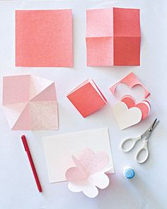 Tutorial: card that looks like hearts when unfolded. #valentine