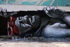 MTO - The Mediterranean Door New Mural @ Sliema Street Art Festival 2014, Malta