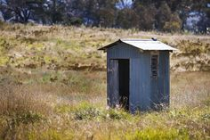 Historic outhouse in the paddocks at Strathnairn Arts. Outhouse in the paddocks