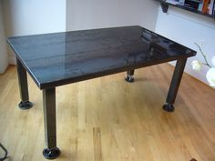 https://flic.kr/p/5Gw9Je | Dining Table | New Plate Steel dining table 38x66x30