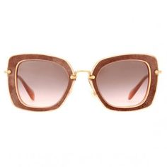 16 Ways to Wear Suede for Spring - Miu Miu Sunglasses from #InStyle