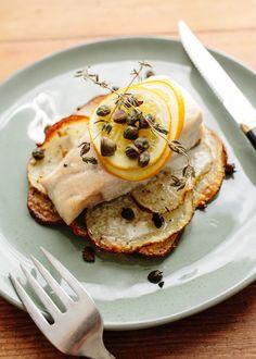 Recipe: Lemon-Herb Fish Fillets on Crispy Potato Rafts