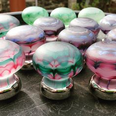 """""""Artisan glass cabinet knobs for interior designer #interiors #interiordesign #architect #architecture #design #cabinets #creative #artisan"""" Photo taken by @merlinglass on Instagram, pinned via the InstaPin iOS App! http://www.instapinapp.com (10/20/2015)"""