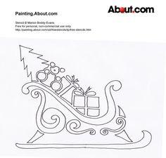 Free Christmas Stencils Free Christmas Stencil Snowman 1