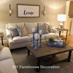 12 Cozy Farmhouse Living Room For Your Family's Warmth 45 Cozy. 12 Cozy Farmhouse Living Room For Your Family's Warmth 45 Cozy Farmhouse Living R Beautiful Living Rooms, Cozy Living Rooms, New Living Room, Living Room Interior, Home And Living, Modern Living, Coffee Table Decor Living Room, Decorating Ideas For The Home Living Room, Simple Living Room Decor
