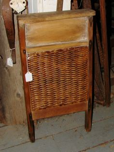 A very nice example of an antique ceramic insert washboard.