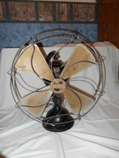 Crocker Wheeler Antique All Brass 9 Quot Electric Fan Nice