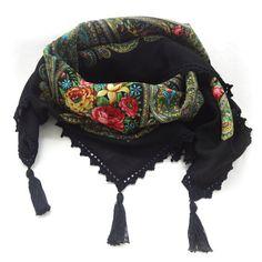 New Russian shawl Pavlov Posad Shawl Crochet от ArigatouShop