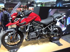 Here's the new Tiger Explorer - this is the XRT model, top of the road-focused XR range.