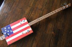 Cigar Box Bass Guitar 2 String by MonkeyPox on Etsy