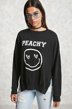 Peachy French Terry Sweatshirt