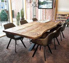 Solid Wood Furniture, Home Furniture, Home Room Design, House Design, Esstisch Design, Industrial Kitchen Design, Living Room Windows, Family Room, Sweet Home