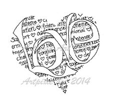 heart+shaped+love+means+calligram+digital+stamp+digi+by+artpixie,+$2.50