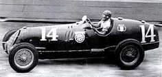 VANDERBILT CUP 1937 - Alfa Romeo 8C-35 #14 of Rex Mays