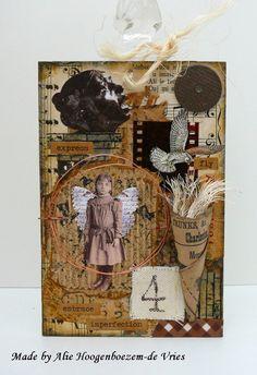 Mixed medai creation, made by Alie Hoogenboezem-de Vries