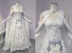 These are three of the Princess Zelda inspired custom wedding dresses created by JoEllen Elam and the rest of the talented seamstresses at Firefly Path. Beautiful, aren't they? I am into them. Is there a such thing as being...