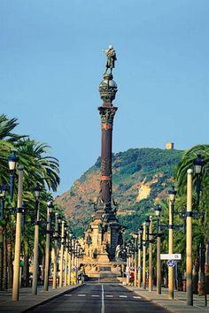 Barcelona,Columna de Cristóbal Colón.