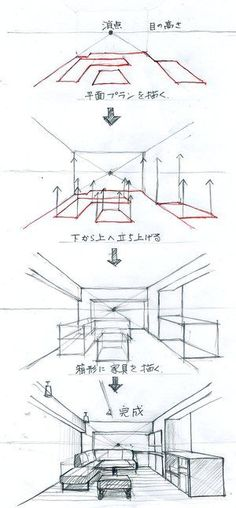 Best Picture For Architecture perspective house For Your Ta. Drawing Lessons, Drawing Techniques, Drawing Tips, Art Lessons, Drawing Drawing, Drawing Reference, Drawing Sketches, Drawing Ideas, Drawing Interior