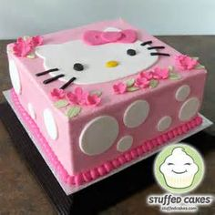 Diy Kitty Part Fun Easy Cute Pink White Decorations Girls Hello Kitty Birthday Party Ideas I Can Do This Cake For Lauren More Buttercream Than Fondant