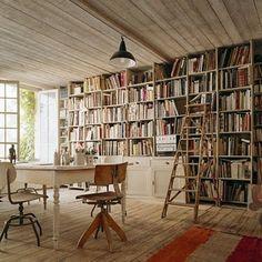 love the floor-to-ceiling book look