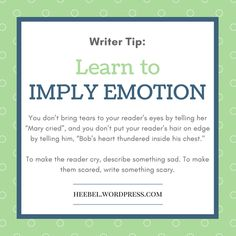 Read Post for tips on writing character emotion. Writer Tips, Writing Characters, About Me Blog, Let It Be, Learning, Writers, Life, Friends, Amigos