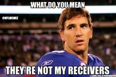 What do you mean they're not my receivers? #funny #GiantsFail #interceptions