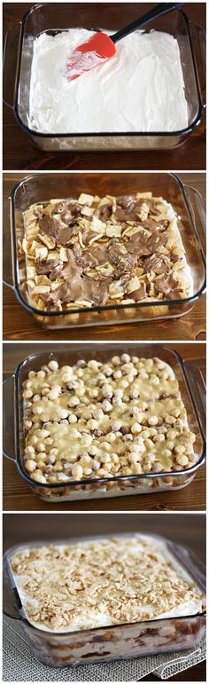 Dessert Lasagna {w/ #CinnamonToastCrunch, #Nutella, #ReesesPuffs & #PeanutButter!}