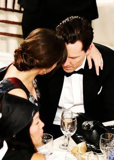 """ Benedict Cumberbatch and Sophie Hunter during the 72nd Annual Golden Globe Awards at The Beverly Hilton Hotel on January 11, 2015 in Beverly Hills, California. (x) """