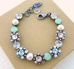 Swarovski crystal bracelet multi size crystals by SiggyJewelry