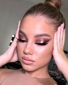 Dope Makeup, Glam Makeup Look, Glamorous Makeup, Makeup Inspo, Makeup Inspiration, Beautiful Eye Makeup, Pretty Makeup, Makeup Looks, Winter Makeup