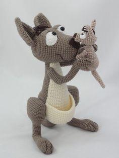 Kanga Roo and baby - pattern