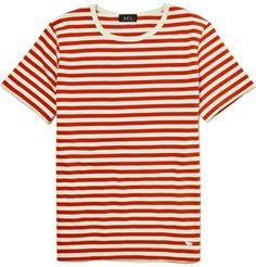 A.P.C. Red Striped Breton T-Shirt