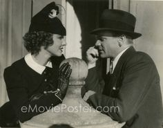 james cagney With Mae Clarke between takes of Great Guy