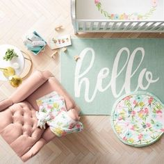 Keep your little sweetie soft and snug as they blossom and flourish with the Pink/Aqua Floral Fields Crib Bedding Set from Cloud Island™. Nursery Themes, Nursery Room, Girl Nursery, Girl Room, Girls Bedroom, Nursery Decor, Nursery Ideas, Project Nursery, Room Decor