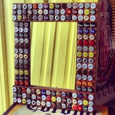 Beer bottle cap mirror!